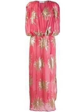 Ailanto long sequinned palm dress - Pink