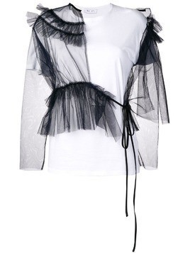 Act N°1 tulle panels T-shirt - White