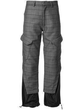 Delada panelled checked trousers - Grey