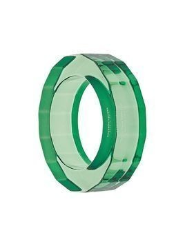 Bottega Veneta transparent resin bangle - Green