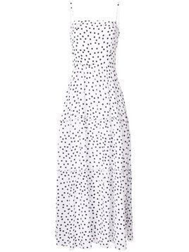 Heidi Klein polka-dot tiered maxi dress - White