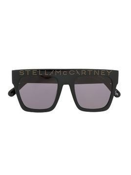 Stella McCartney Kids square-frame logo sunglasses - Black