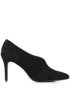 Albano opened side pumps - Black