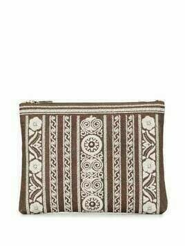 Etro floral embroidered clutch bag - Neutrals