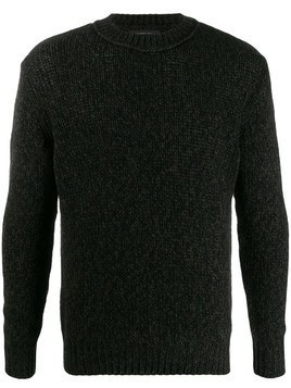 Lamberto Losani Mouline plain jumper - Black