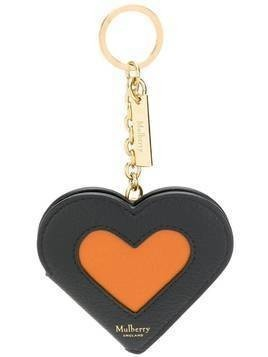 Mulberry Heart Portrait keyring - Black