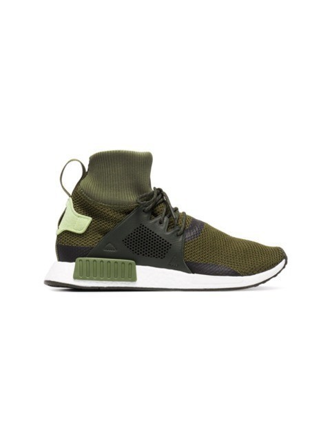Adidas Green NMD XR1 winter sneakers