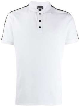 Just Cavalli cat trim polo shirt - White