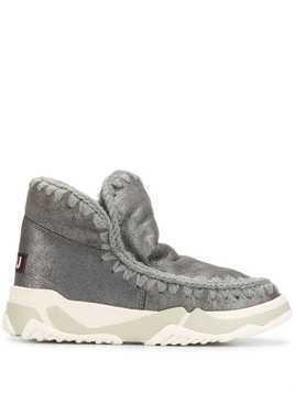 Mou knitted detail boots - Grey