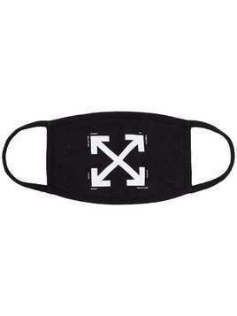 Off-White arrow logo face mask - Black