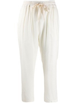 Kristensen Du Nord cropped panelled trousers - White