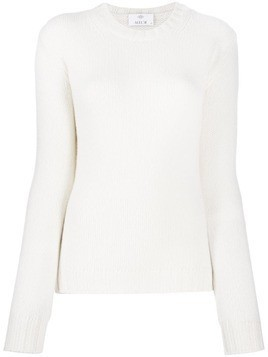 Allude slim fit cashmere jumper - White