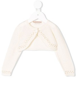 La Stupenderia embroidered cardigan - Neutrals