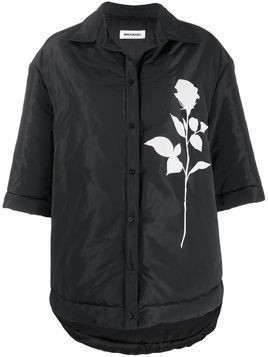 Brognano boxy fit rose print jacket - Black