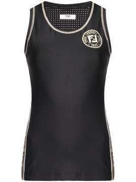 Fendi tech fabric sport top - Black