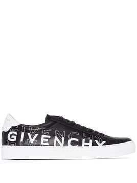 Givenchy logo-embroidered low-top sneakers - Black