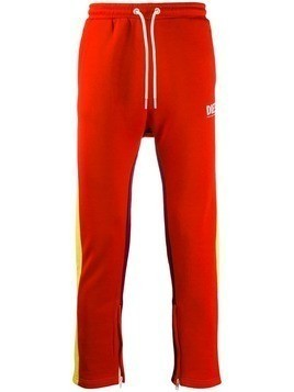 Diesel colour block track pants - Red