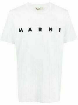 Marni logo-print cotton T-shirt - White