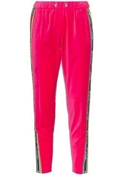 Mira Mikati side stripe tracksuit trousers - Pink & Purple