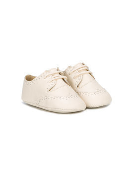 La Stupenderia lace-up pre-walkers - Neutrals