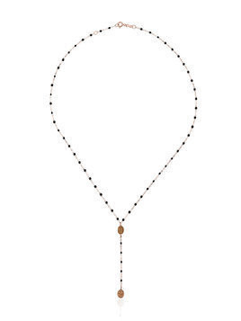 Gigi Clozeau black RG madone rose gold necklace