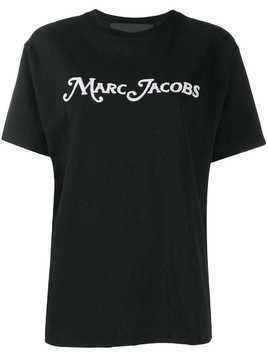 Marc Jacobs embroidered logo T-shirt - Black