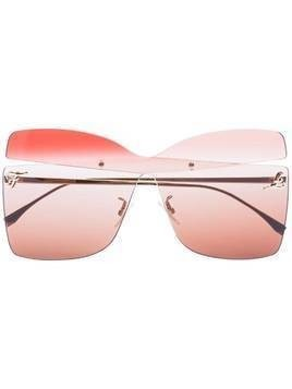 Fendi ombre square cutout sunglasses - PINK