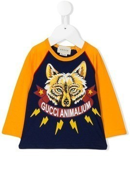 Gucci Kids Gucci Animalium printed T-shirt - Yellow & Orange
