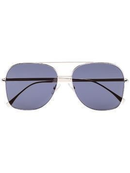 Fendi square aviator sunglasses - Black