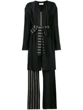 Esteban Cortazar robe-like long playsuit - Black