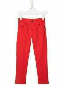 Cesare Paciotti 4Us Kids mid-rise slim-fit jeans - Red