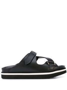 Buscemi touch straps slides - Black