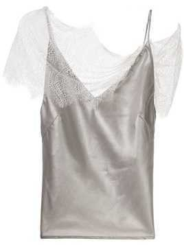 Christopher Esber lace-detail camisole top - SILVER