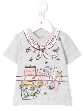 Stella Mccartney Kids I Love Ladybugs T-shirt - Grey