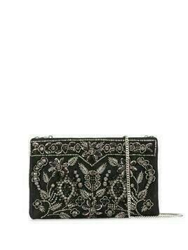 Etro satin embellished clutch - Black
