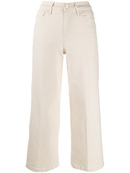 Frame Ali wide leg cropped jeans - White