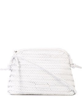 Loeffler Randall woven cross body bag - White