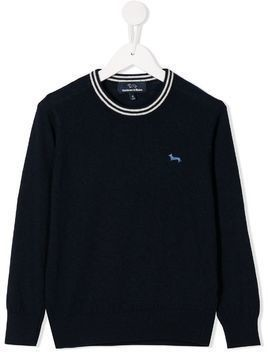 Harmont & Blaine Junior embroidered jumper - Blue