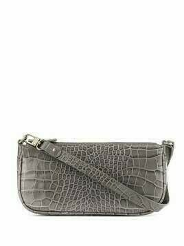 BY FAR crocodile embossed shoulder bag - Grey