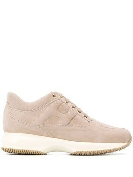 Hogan suede lace-up sneakers - Neutrals
