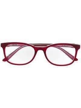 Cartier rectangle frame glasses - Red