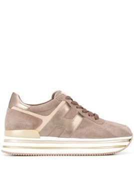 Hogan platform sneakers - Brown