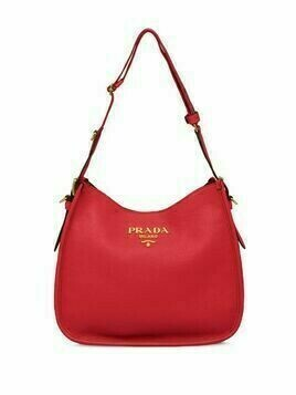 Prada Medium leather shoulder bag - Red
