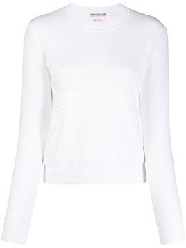 Comme Des Garçons Girl heart detailed sweatshirt - White