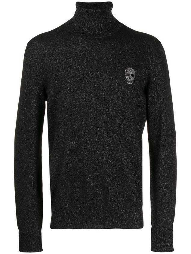 Alexander McQueen skull patch jumper - Black