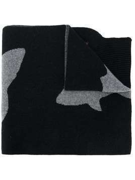 Raeburn shark pattern scarf - Black