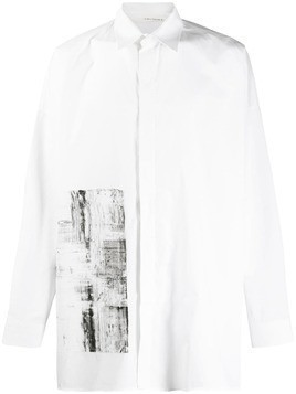 Isabel Benenato paint effect shirt - White