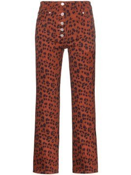 Miaou Junior leopard print trousers - Red