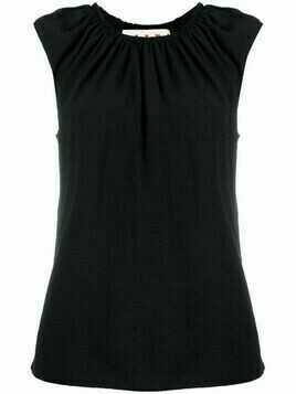 Marni ruched-neck sleeveless blouse - Black