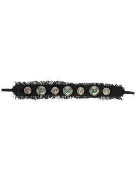 Maison Michel stud-embellishment headband - Black